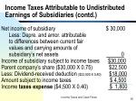 income taxes attributable to undistributed earnings of subsidiaries contd25