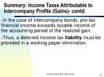 summary income taxes attributable to intercompany profits gains contd61