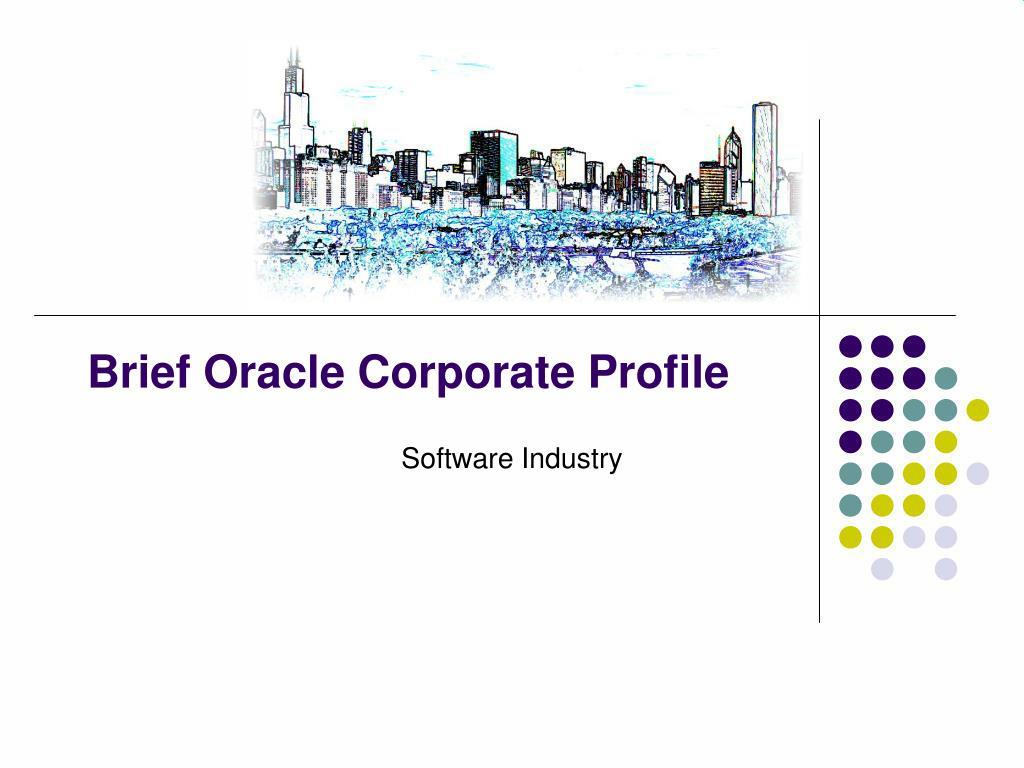 brief oracle corporate profile l.