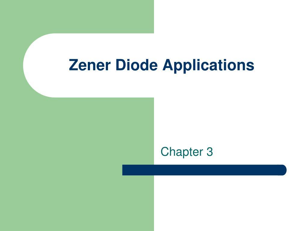 zener diode applications l.