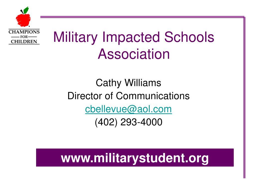 military impacted schools association l.