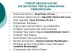 prinsip negara hukum dalam sistem penyelenggaraan pemerintahan