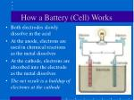 how a battery cell works