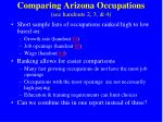 comparing arizona occupations see handouts 2 3 4