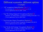 different scenarios different options 4 examples