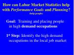 how can labor market statistics help with performance goals and planning help people