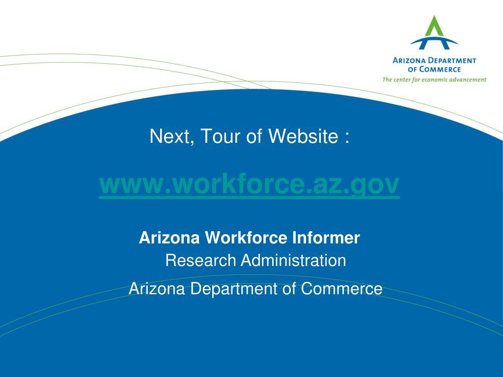 Next, Tour of Website :
