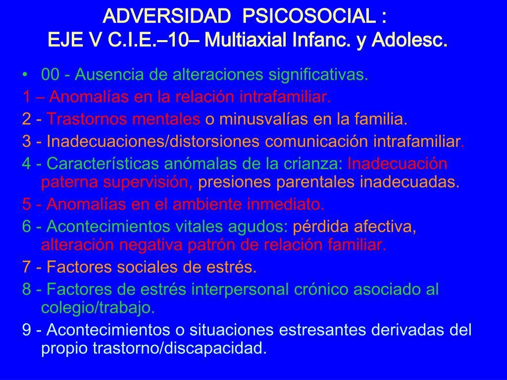 ADVERSIDAD  PSICOSOCIAL :