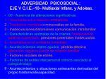 adversidad psicosocial eje v c i e 10 multiaxial infanc y adolesc