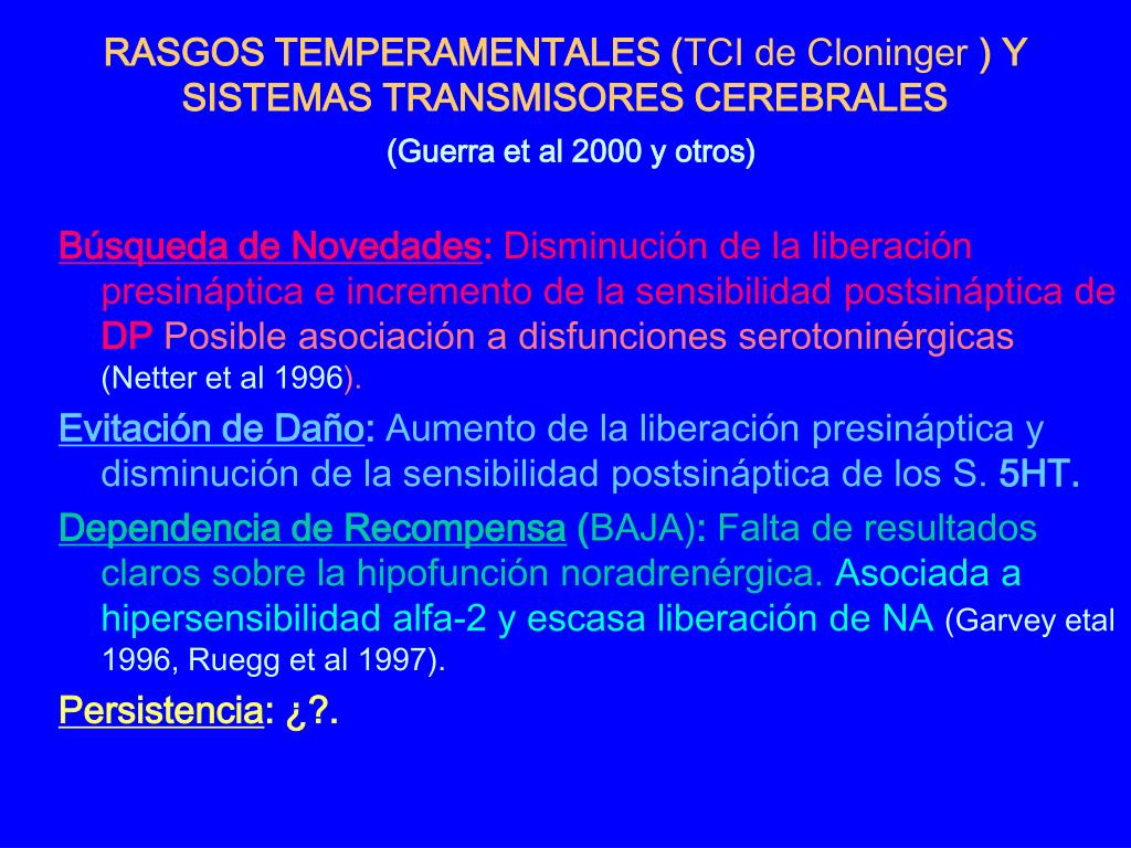 RASGOS TEMPERAMENTALES (