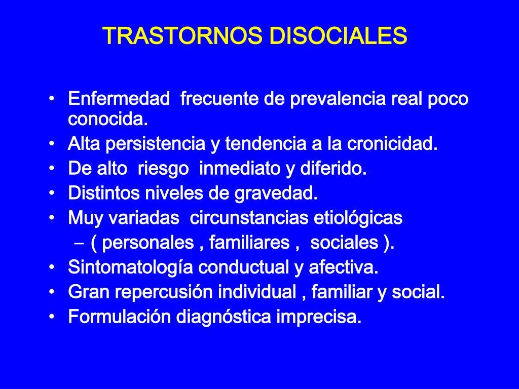TRASTORNOS DISOCIALES
