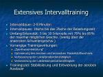 extensives intervalltraining