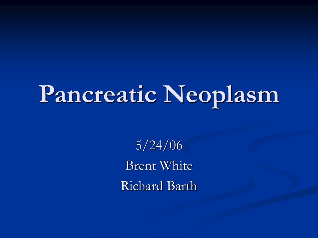 pancreatic neoplasm l.