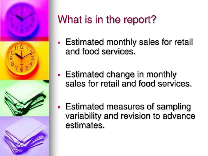 What is in the report