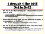 1 through 4 mar 1945 d 9 to d 12