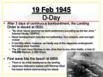19 feb 1945 d day