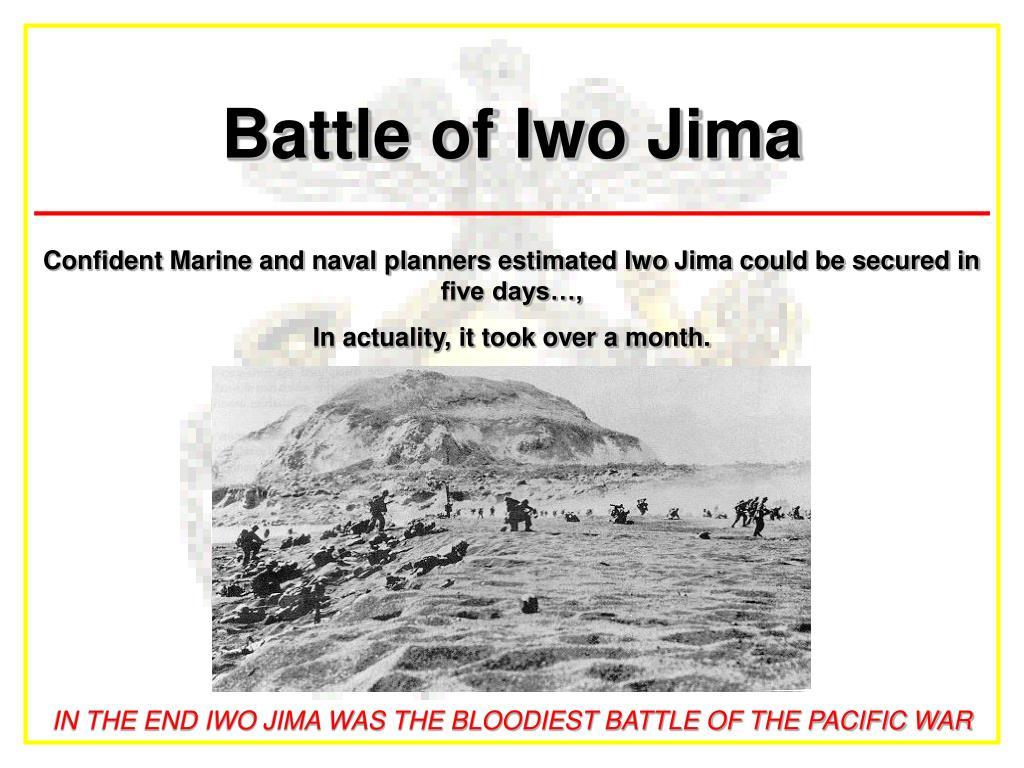 battle of iwo jima l.