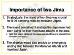 importance of iwo jima