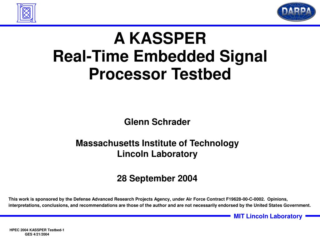 a kassper real time embedded signal processor testbed l.