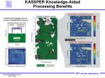 kassper knowledge aided processing benefits