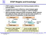 stap weights and knowledge