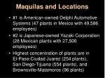 maquilas and locations
