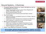 ground systems a summary