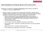 hard questions to answer about lco s and lca s28