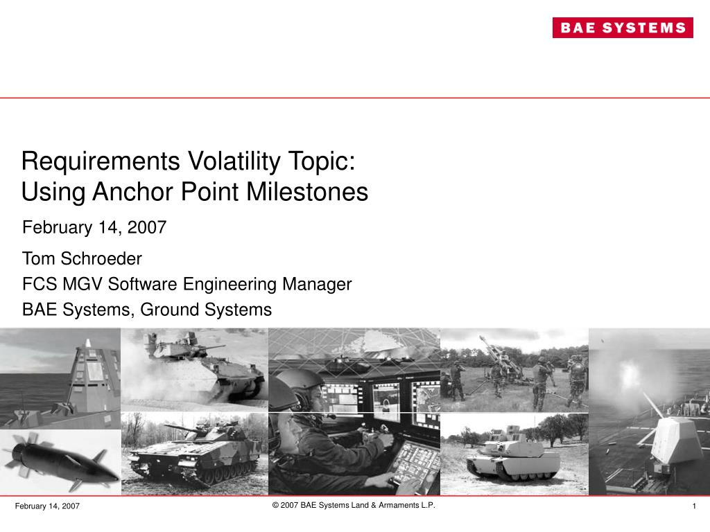 requirements volatility topic using anchor point milestones l.