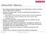 software build 1 objectives