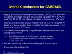 overall conclusions for gardasil