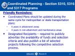 coordinated planning section 5310 5316 and 5317 programs