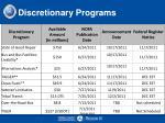 discretionary programs7