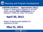 planning and program development12
