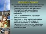 challenges in research