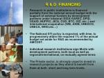 r d financing
