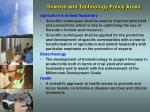 science and technology policy areas