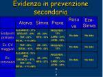 evidenza in prevenzione secondaria