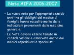 note aifa 2006 2007