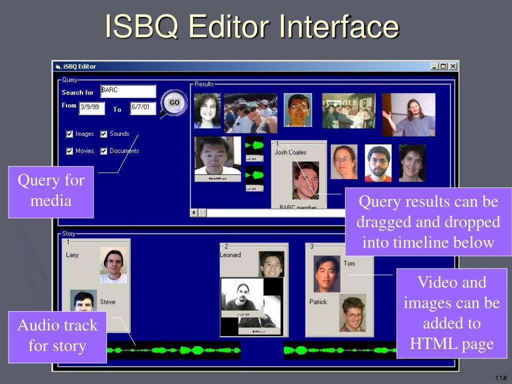 ISBQ Editor Interface