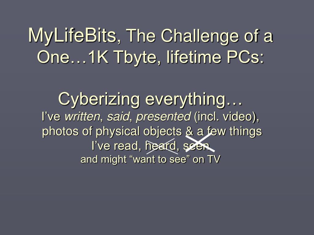 MyLifeBits
