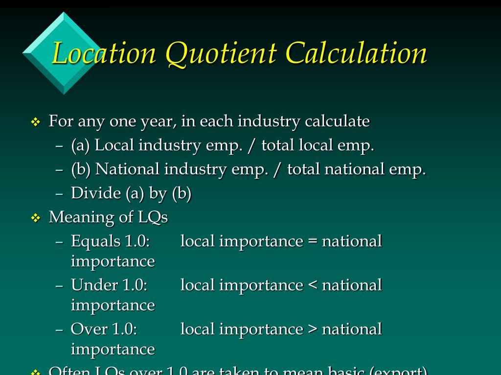 Location Quotient Calculation
