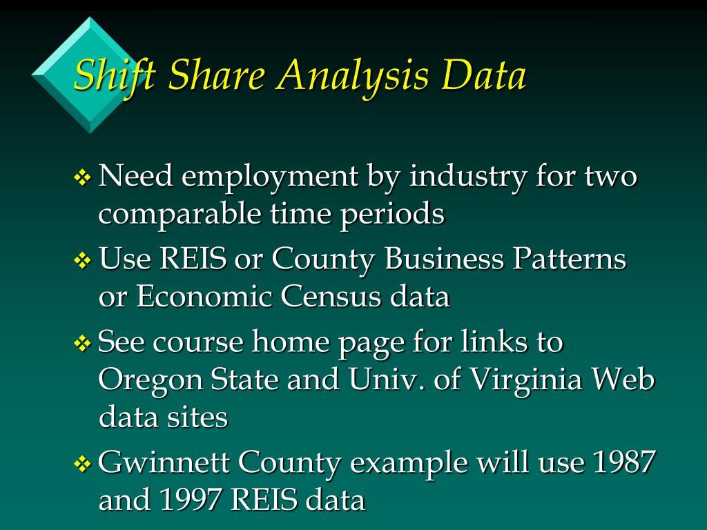Shift Share Analysis Data