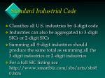 standard industrial code