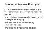 bureaucratie ontwikkeling nl