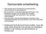 democratie ontwikkeling