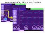 assessment of v t pac v imp c no limit