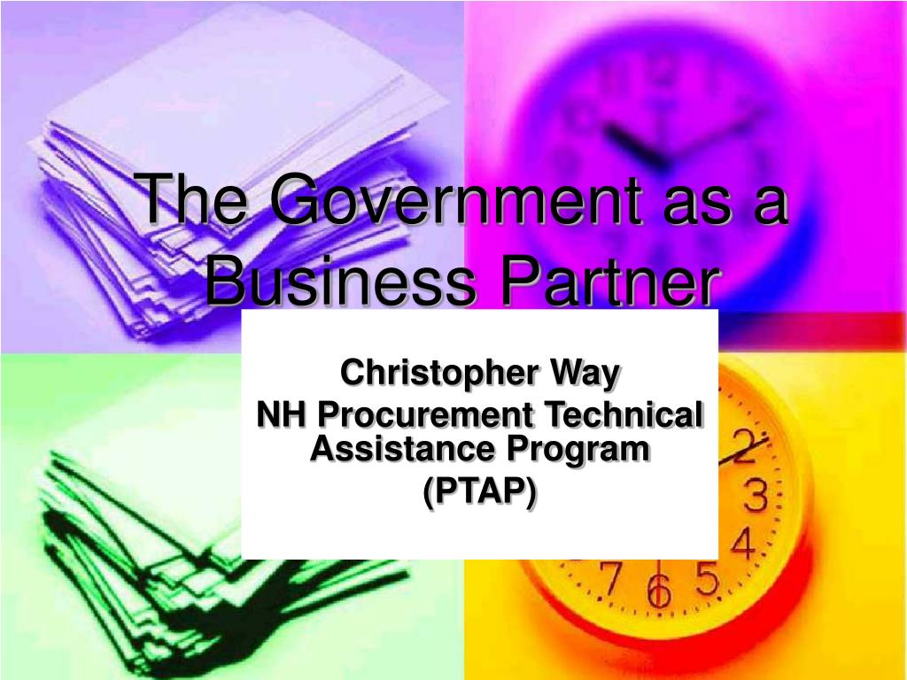 the government as a business partner l.
