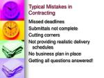 typical mistakes in contracting
