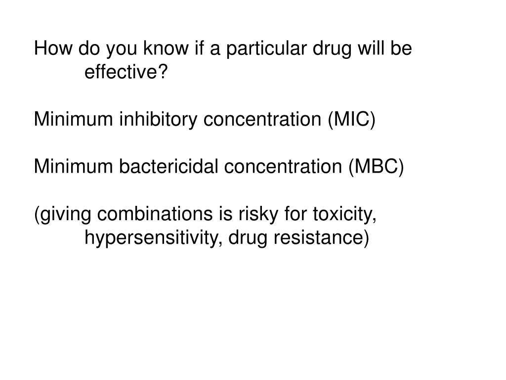 How do you know if a particular drug will be